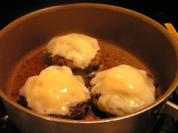 Over a medium heat, in a large frying pan; cook stuffed patties 5 to...
