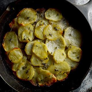 5 ingredient Thyme Pommes Anna (potato cake)