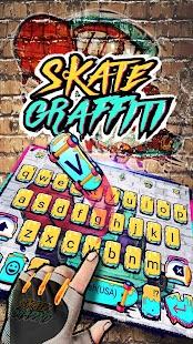 Skateboard Graffiti Keyboard Theme - náhled