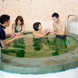 Green Tea Spa at the Yunessun Water Park in Hakone, Japan in Hakone, Kanagawa, Japan