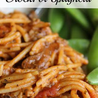 CrockPot Spaghetti.