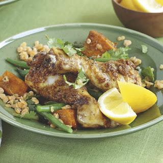 Coriander Chicken with Butternut Squash Lentils.
