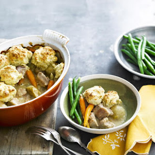 Pork and Apple Cider Casserole with Sage Dumplings