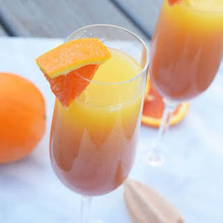 Pomegrante Tequila Sunrise Mimosas.