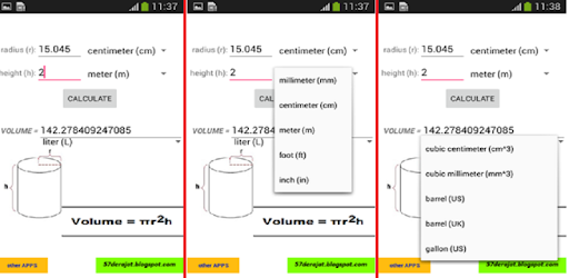 Cylinder Calculator - Apps on Google Play