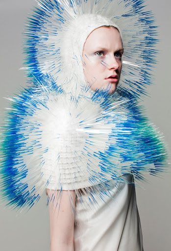 """Atmospheric Reentry"", Knit cape"