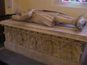 Photo: But it is open today, and I am able to view its notable features, including two tombs of the Montmorency family, who ruled Conflans from 1270 to 1642 - here, Mathieu de Montmorency IV, who died in 1304.