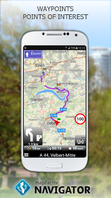 #3. MapFactor GPS Navigation Maps (Android)