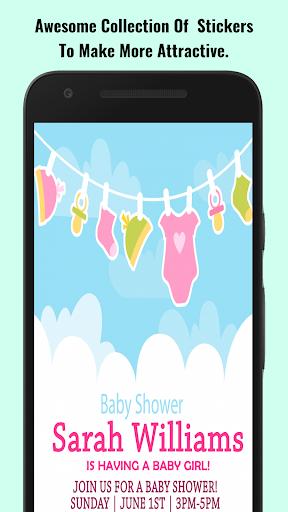 Baby Shower Invitation Maker screenshot 3