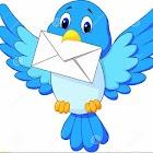Blue bird messenger icon