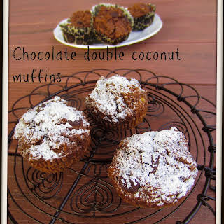 Donna Hay chocolate and double coconut muffins.