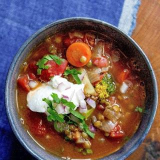 Fridge-Clearing Lentil Soup.