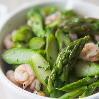Asparagus Salad with Shrimp.