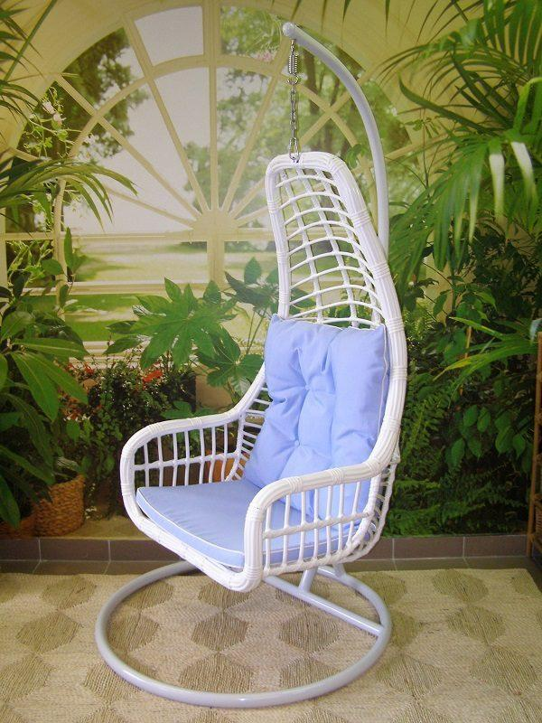 Záhradné závesné relaxačné kreslo BLUE - modrý sedák