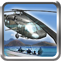 Flying Helicopter Pilot Police icon