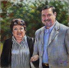 Photo: Carmelo y Agurtzane, retratos en pastel
