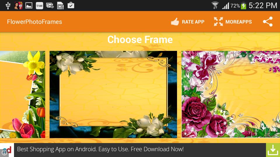 flower photo frames screenshot