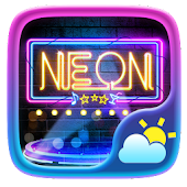 Neon GO Weather Widget Theme