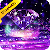 Purple Diamond Animated Live Keyboard Theme