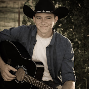 Guitar Playing Country Boy by Eva Ryan - People Musicians & Entertainers ( oklahoma, male, teenager, guitar, boy,  )