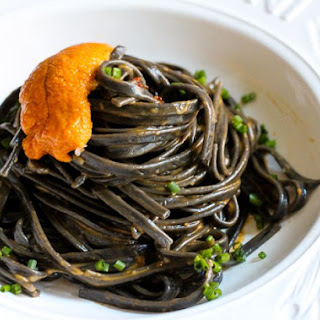 Sea Urchin Squid Ink Pasta.