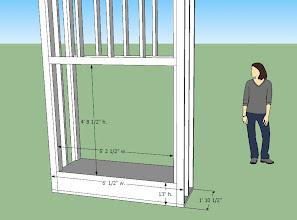 Photo: framing detail for bedoom