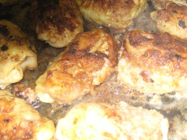 Cabbage rolls browning.