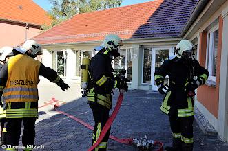 Photo: Einsatzübung der Feuerwehren der Stadt Gräfenhainichen in der Grundschule Zschornewitz