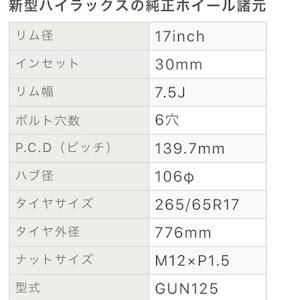 ハイラックス GUN125のカスタム事例画像 イガグリンさんの2020年09月05日19:51の投稿