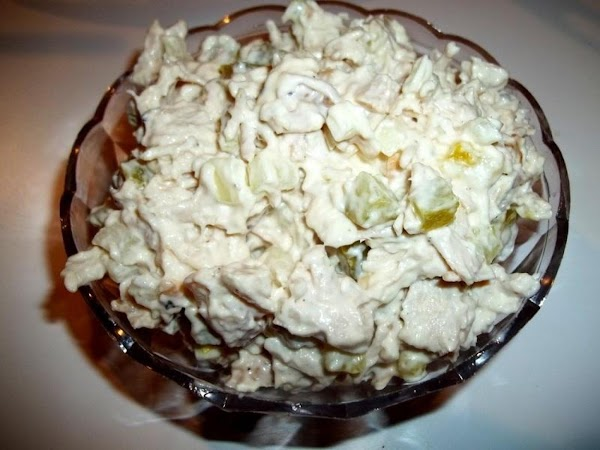 Shred or chop turkey and place in a medium bowl, along with pickles, onion...