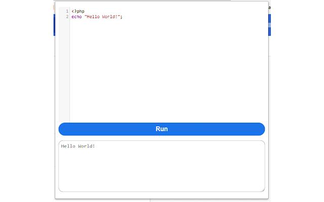 PHP Write Run