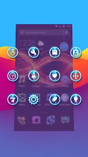 Shine Glitter Neon APUS stylish theme- screenshot thumbnail