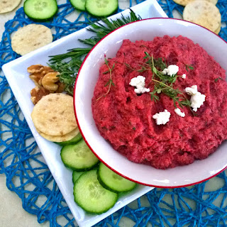 Goat Cheese, Beet and Roasted Parsnip with Herbs Dip Recipe