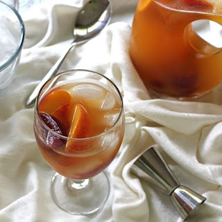 Ginger Peach Sangria with Plums.