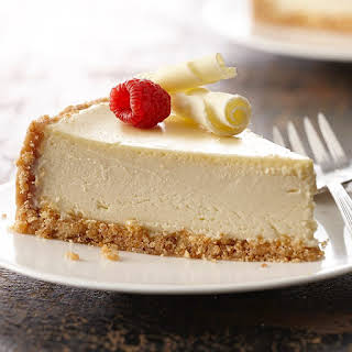 Ultimate Vanilla Cheesecake.