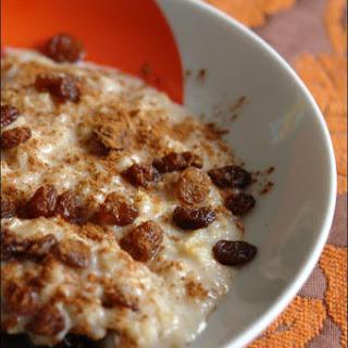 Porridge with Sultanas.