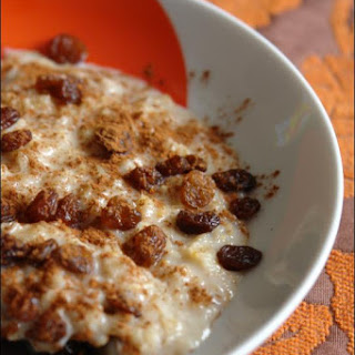 Porridge with Sultanas.