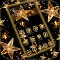 Gold Star Theme Wallpaper Lux Black Gold icon