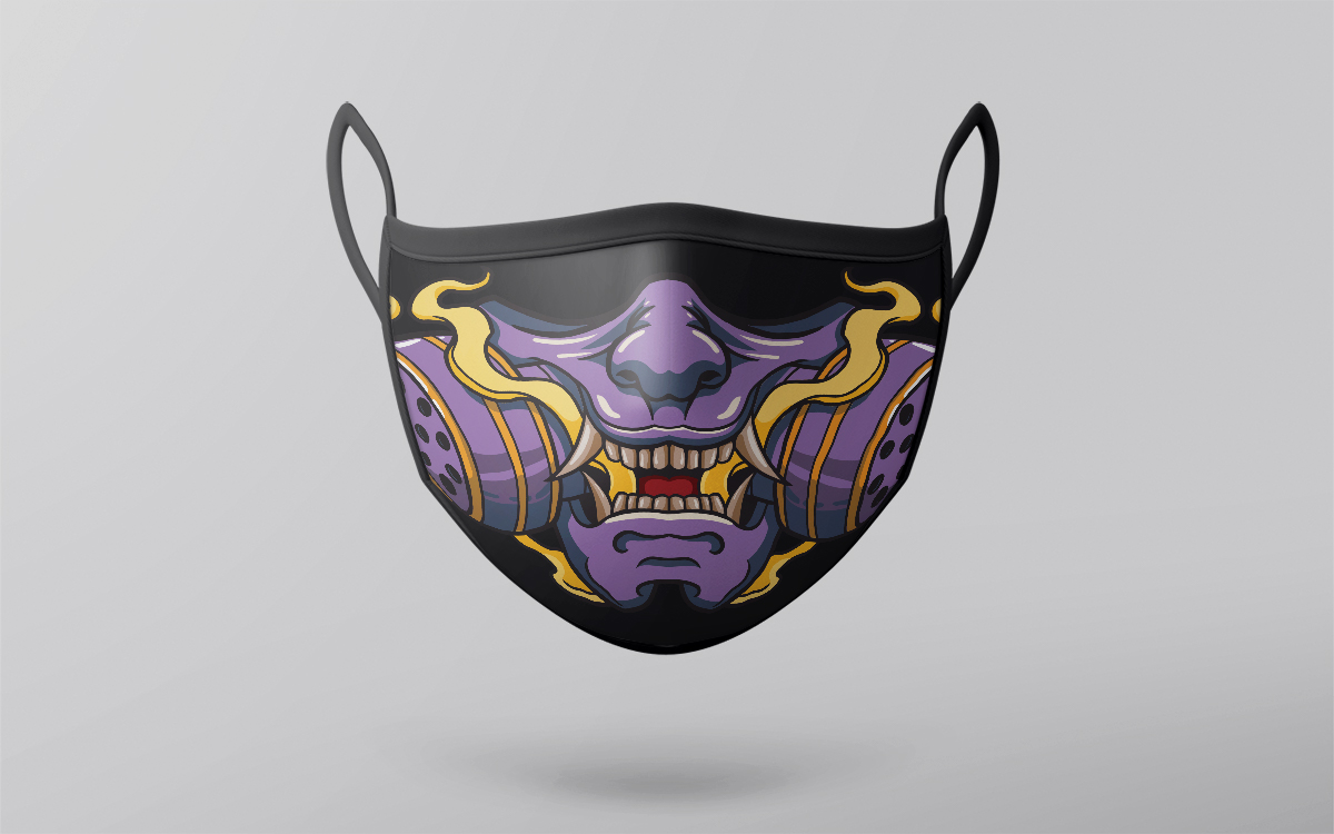 hannya gas mask design