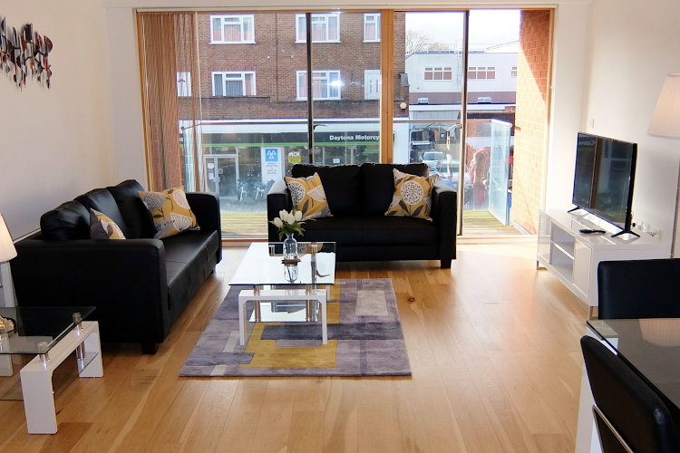 Bright living space at Ruislip Apartments