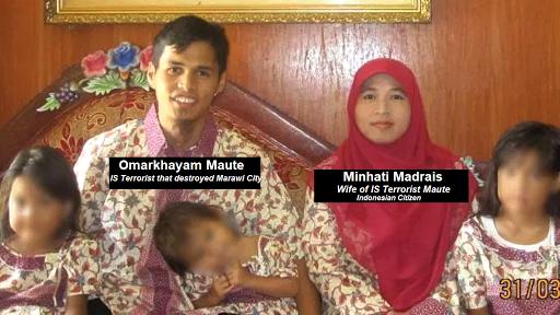 IS Leader Omarkhayam Maute and wife Minhati Madrais