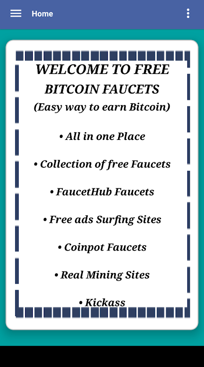Free Bitcoin Faucets – (Android Apps) — AppAgg