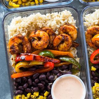 Meal-Prep Shrimp Burrito Bowls.