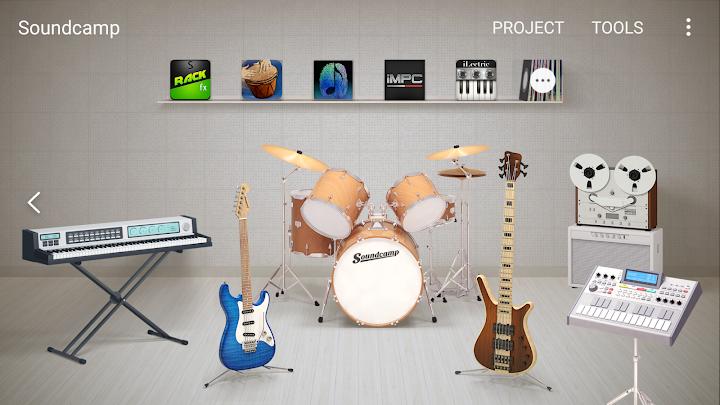 Soundcamp Android App Screenshot
