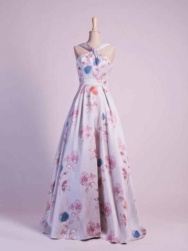 Robe de soirée Chloé, robe de soirée créateur, robe cocktail créatrice, robe mariage civil