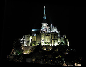 Photo: Arriving at Mont Saint-Michel, evening of Sep 16.