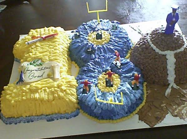 Foot Ball Birthday And Graduation Cake Recipe