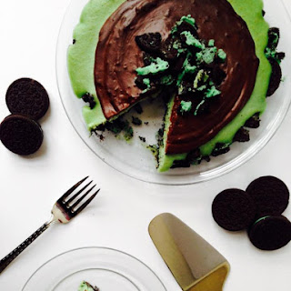 {Vegan} Grasshopper Cheesecake Oreo Tart