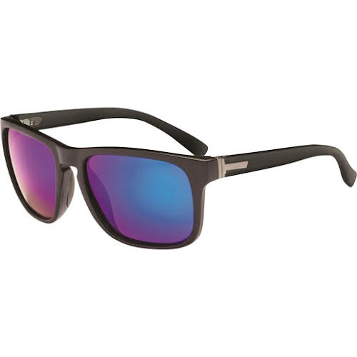 Optic Nerve ONE Ziggy Polarized Sunglasses: Matte Black with Smoke Green Mirror Lens