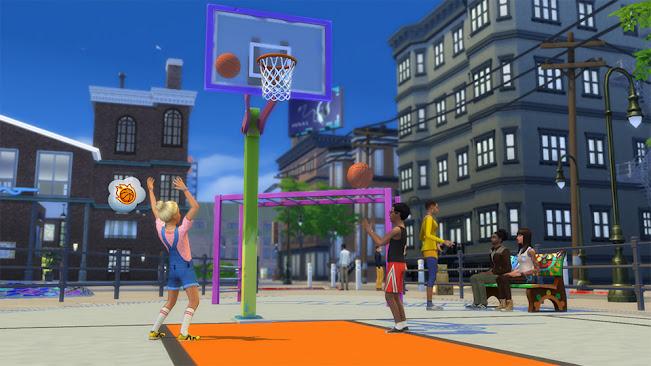 De Sims 4 Stedelijk Leven basketbal in de stad